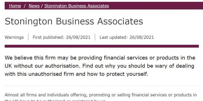 Stonington Business Associates Review